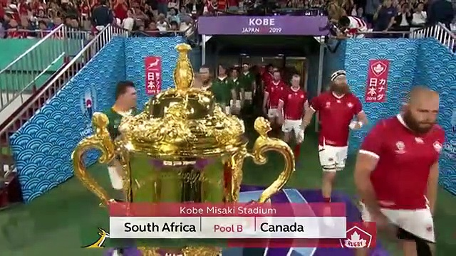 Highlights South Africa v Canada – Rugby World Cup 2019