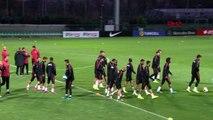 Spor a milli futbol takımı, arnavutluk maçı hazırlıklarını sürdürdü