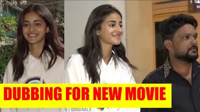 Ananya Pandey dubs for her movie