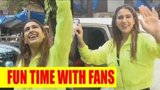 Sara Ali Khan having fun time with her li'l fans