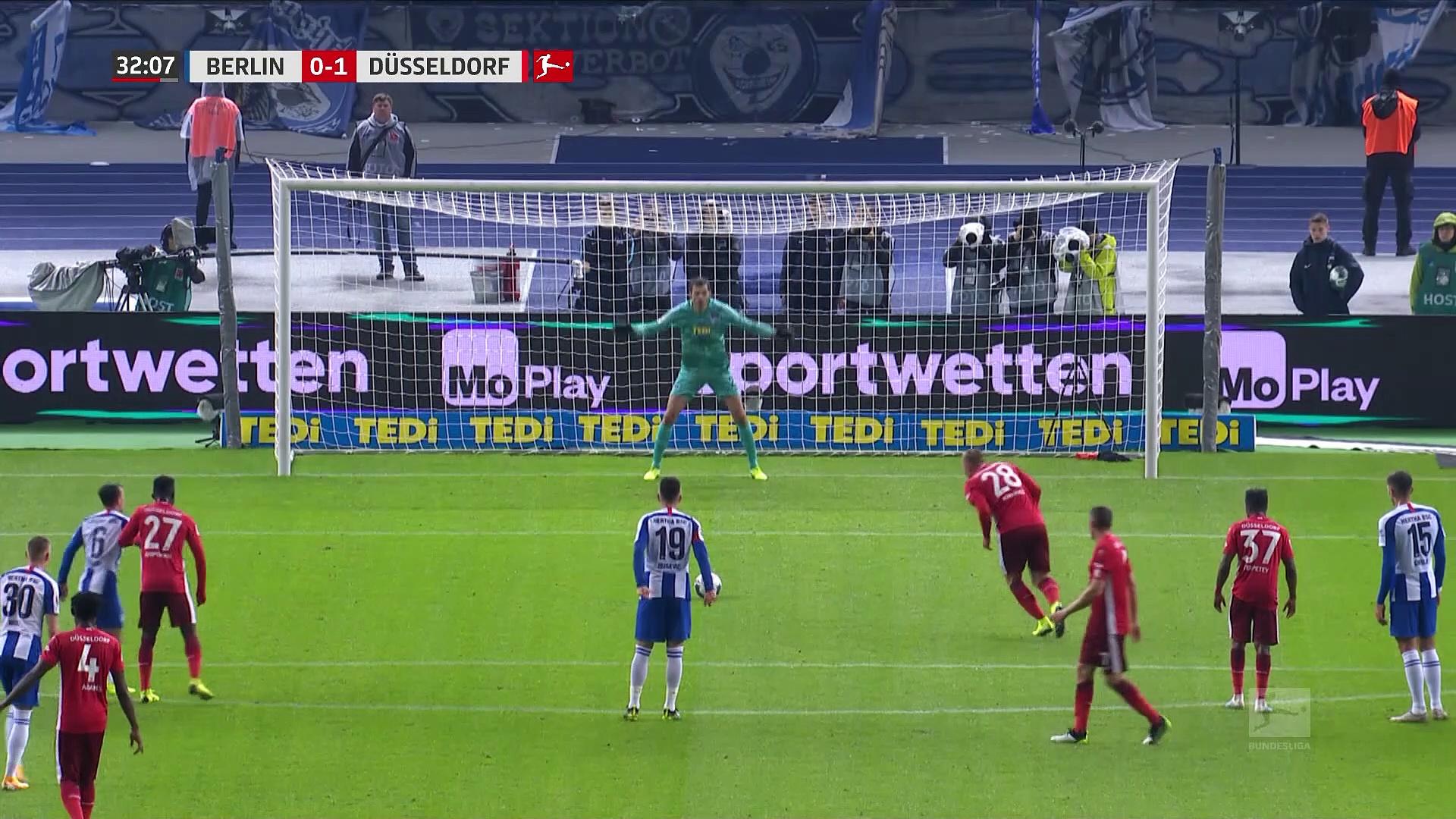 7. Hafta / Herhta Berlin - Fortuna Düsseldorf: 3-1 (Özet)