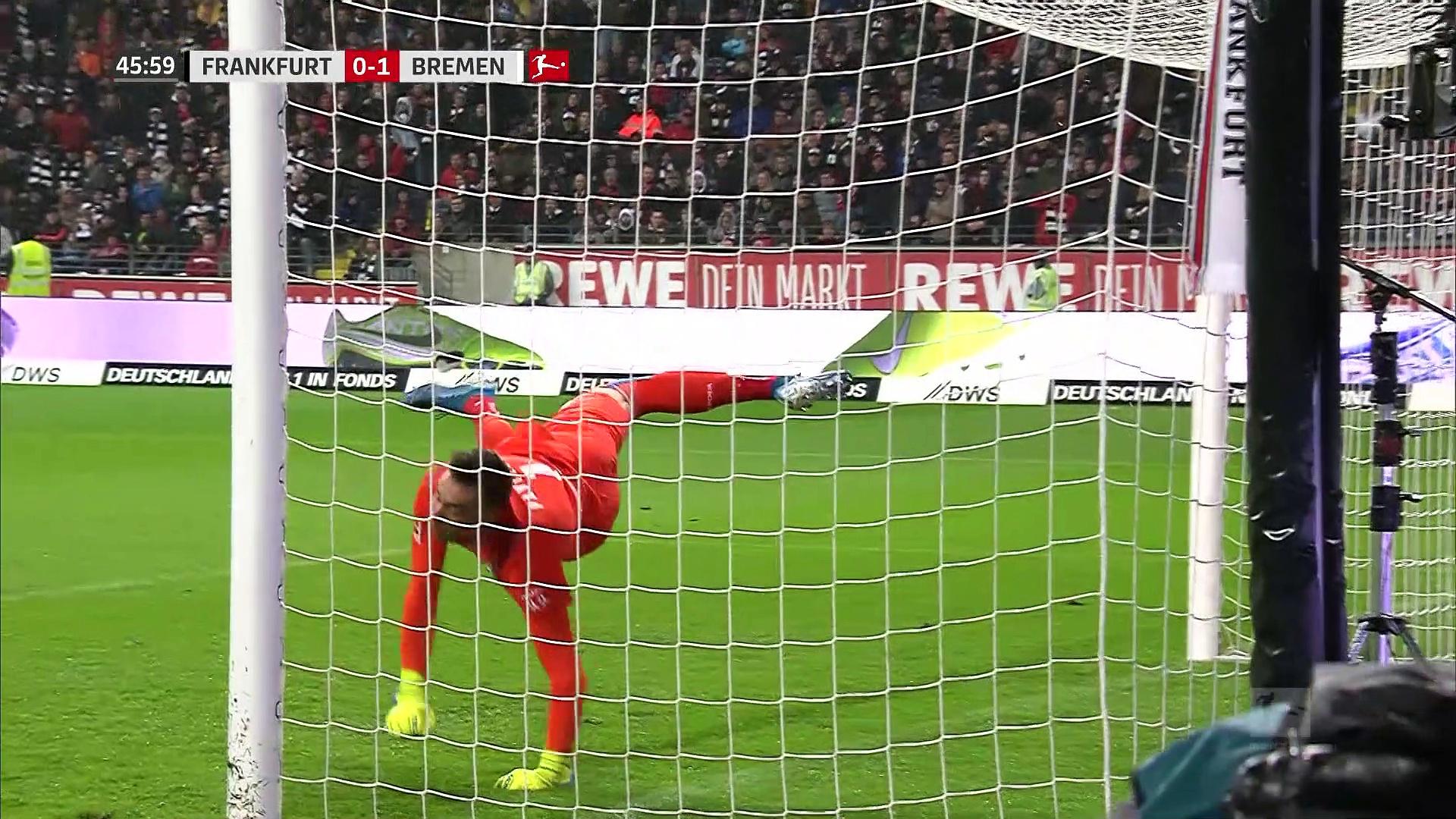 7. Hafta / Eintracht Frankfurt - Werder Bremen: 2-2 (Özet)