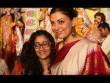 Sushmita Sen celebrates 'Durga Puja' with daughters Renee, Alisah | SpotboyE