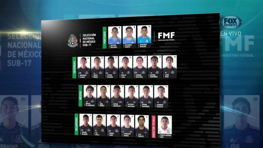 Selección Mexicana: Los convocados al Mundial de la sub-17