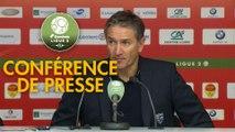 Conférence de presse US Orléans - RC Lens (1-4) : Didier OLLE-NICOLLE (USO) - Philippe  MONTANIER (RCL) - 2019/2020