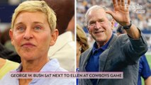 George W. Bush Sat Next to Ellen DeGeneres at a Cowboys Game — and the Internet Had a Lot of Thoughts