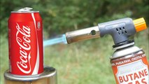 COCA COLA VS GAS TORCH cocacola fire colddrink aag