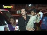 Zayed Khan Greets a Street Kid outside a Restaurant | SpotboyE