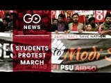 Students Protest March Against Centre's Policies