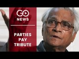 Parties Pay Tributes to George Fernandes