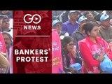 Bank Employees Protest At Jantar Mantar
