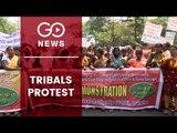 Adivasis, Tribals Protest In Bhubaneswar
