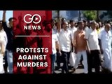 Protests After Congress Workers Murdered In Kerala