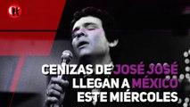 Cenizas de José José llegan a México este miércoles