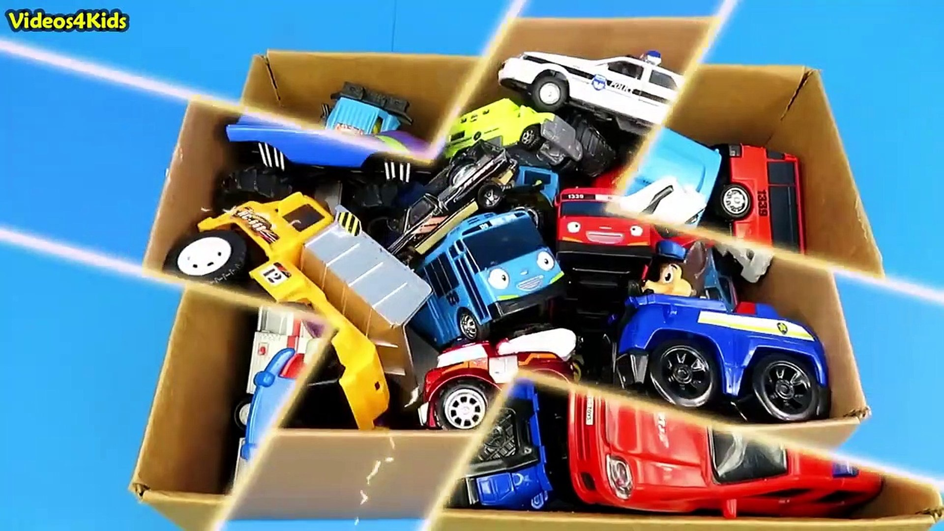 Box Full Of Toys McQueen Cars Disney Car Action Figures Learn Street Vehicles Names Sounds For Kids