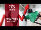 Congress Protest Against Fuel Price Hike In Uttar Pradesh