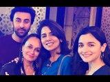 Ranbir Kapoor Brings In 36th Birthday With His Special Ladies Alia Bhatt, Neetu Kapoor & Soni Razdan