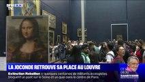 La Joconde a repris sa place dans la Salle des États au Louvre, deux mois après son déplacement