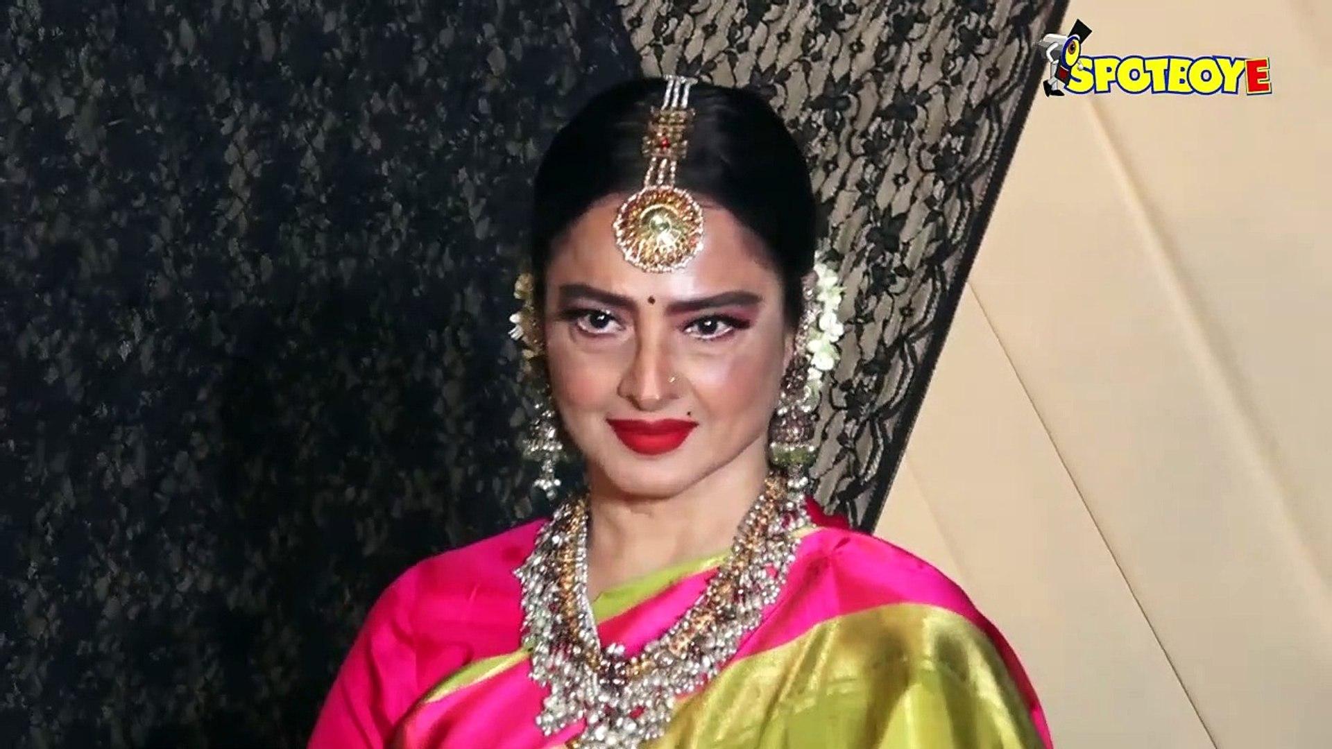 Amitabh Bachchan, Rekha & Others Attend Mukesh Bhatt's Daughter Sakshi's Wedding Recep