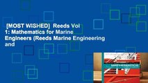 [MOST WISHED]  Reeds Vol 1: Mathematics for Marine Engineers (Reeds Marine Engineering and