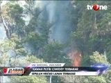 Kawasan Hutan Kawah Putih Ciwidey Terbakar