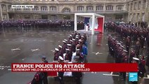 """Emmanuel Macron pays tribute to police HQ attack: """"Seven minutes were enough to take the lives of four of your own"""""""