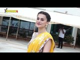 SPOTTED: Taapsee Pannu and Kriti Kulhari Promotes 'Mission Mangal' | SpotboyE