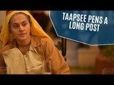 Taapsee Pannu Pens A Long Post Defending 'Saand Ki Aankh' Casting | SpotboyE