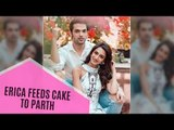 Ex-Girlfriend Erica Fernandes Adoringly Feeds Cake To Parth Samthaan With Her Own Hands | SpotboyE