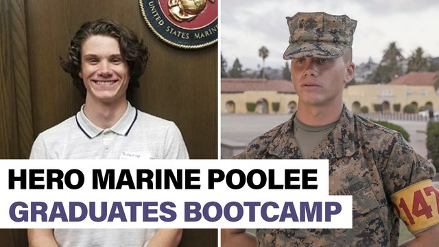 Hero poolee who tackled gunman becomes a Marine