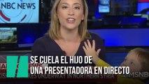 El hijo de una presentadora de tv se cuela en directo