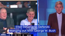 Ellen Hangs Out With President Bush