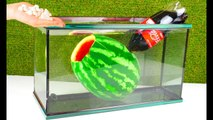 Experiment - WATERMELON and Coca Cola Mentos Under Water