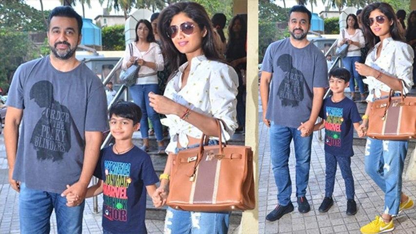 Shilpa Shetty enjoys movie War with husband Raj Kundra & son Viaan; Watch video | FilmiBeat