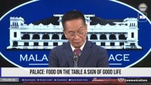 Palace: Food on the table a sign of good life