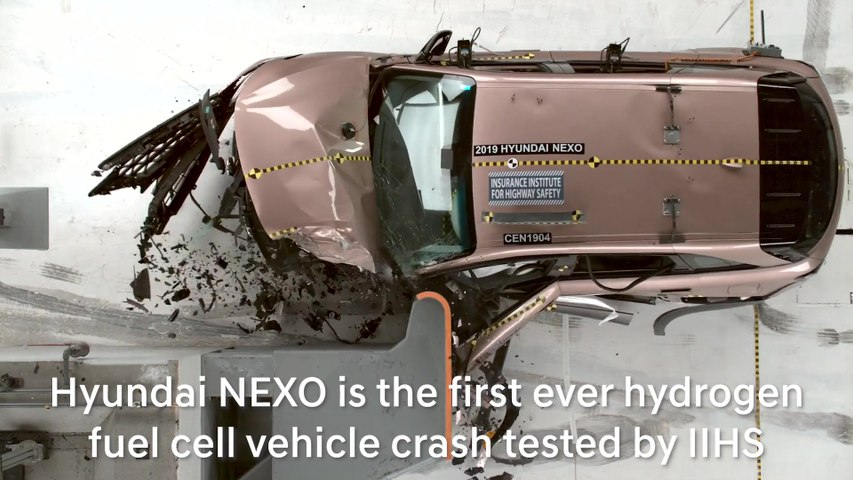 How the Hyundai NEXO Performed in the First Hydrogen Fuel Cell Vehicle Test by the IIHS
