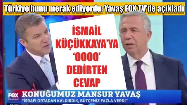 Mansur Yavaş'tan İsmail Küçükkaya'ya 'oooo' dedirten cevap: Türkiye bunu bekliyordu