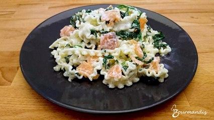 Recette : Pâtes au saumon & mascarpone