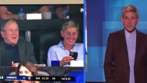 Ellen DeGeneres defends hanging out with George W. Bush