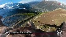 Alpes : un aigle muni d'une caméra sensibilise sur la fonte des glaces