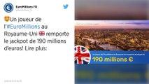 Euromillions: un Britannique remporte le jackpot de 190 millions d'euros