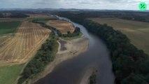 Los caudales de los ríos están disminuyendo