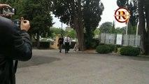 Dzeko a Villa Stuart per svolgere l'operazione allo zigomo
