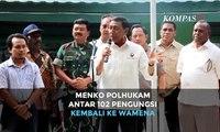 Menko Polhukam Wiranto Antar 102 Pengungsi Kembali ke Wamena