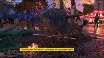 Paris : deuxième nuit place du Châtelet pour les écologistes d'Extinction Rebellion