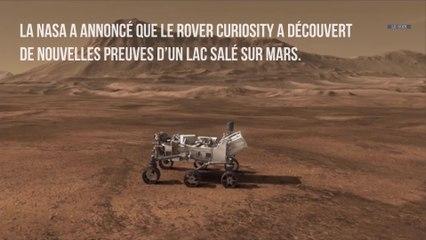 Des traces d'un ancien lac salé retrouvées sur Mars