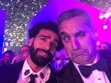رقص باسم يوسف في حفل GQ يثير ضجة.. وهكذا تفاعل معه محمد صلاح