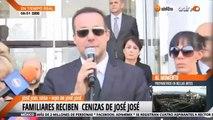 Marysol, Anel Noreña y José Joel reciben cenizas de José José