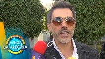 Sergio Mayer llegó a la CDMX junto con las cenizas de José José.   Venga La Alegría