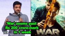 'War' zooms past Rs 200 crore-mark in 1 week